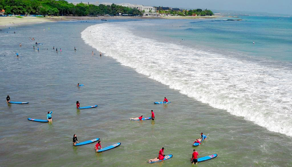 Best places to learn to surf around the world - Kuta Bali