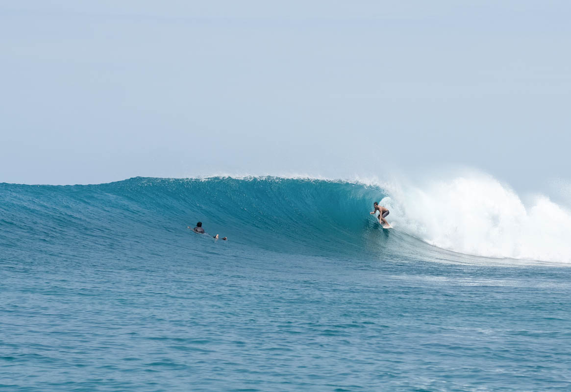Surfing the Maldives Sultans Surf Spot Himmafushi
